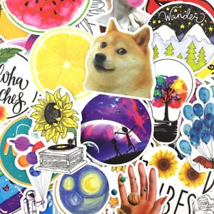 53PCS VSCO Girl Style Cartoon Stickers Lot Bomb Pack Vinyl Laptop Skateboard Car