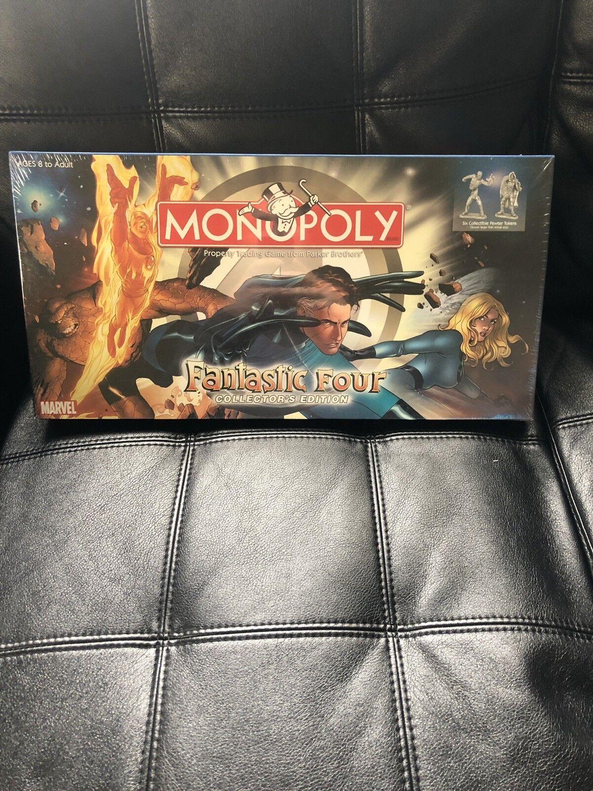 Monopol der fantastischen vier marvel - comics brettspiel 2005 hasbro.