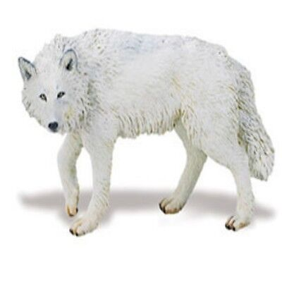 Animals & Dinosaurs Constructive Safari Ltd 220029 White Wolf 9,5 Cm Series Wild Animals A Great Variety Of Goods