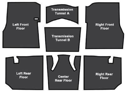 ACC 65-70 Impala Sound Deadener Floor Insulation 9pc Kit Carpet Underlayment