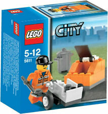 5611 CONSTRUCTION WORKER GARBAGE MAN lego NEW town CITY legos set RETIRED