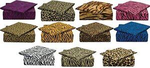820-SAFARI-COLLECTION-DEEP-POCKET-4-PIECE-BED-SHEET-SET-BY-CLARA-CLARK-All-Sizes