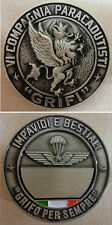"Moneta/Coin Commemorativo 6^ Cp. ""GRIFI"" - 187° RGT. PAR. ""FOLGORE"" - Originale"