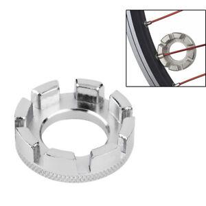 6 Way Bicycle Spoke Nipple Key Bike Cycling Wheel Rim Spanner Wrench Repair Tool