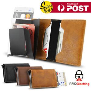 2019-Leather-Credit-Card-Holder-Money-cash-Wallet-Clip-RFID-Blocking-Purse-AU
