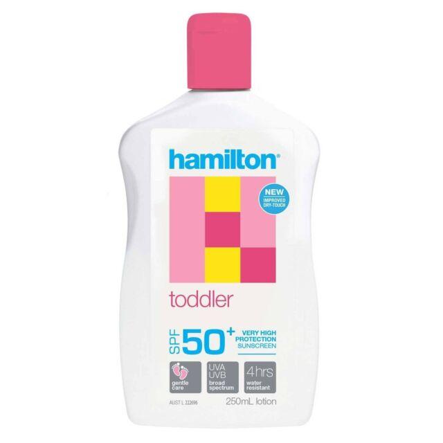 HAMILTON TODDLER SPF 50+ SUNSCREEN 250ML LOTION VERY HIGH PROTECTION UVA UVB