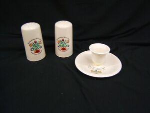 1966-1967-Pennsylvania-034-Dutch-Days-034-Candle-Holder-amp-Salt-amp-Pepper-VGC