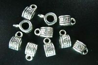 45pcs Tibetan Silver Beautiful Little Spacer Bails 10x5mm 182