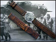 26mm Distressed Aged Vintage calf Bomber Pilot watchband Pan strap IW SUISSE usa
