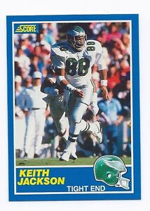 Details About 1989 Score Football 101 Keith Jackson Rookie Card Mint Error Card 84 On Back