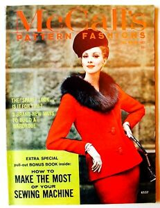 Vintage-MCCALL-039-S-PATTERN-FASHIONS-Magazine-1960-039-s-U-PICK-Sewing-Collectible