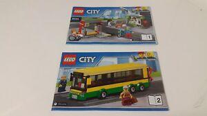 Adroit Lego City!!! Instructions Only!!! Pour 60154 Bus Station-afficher Le Titre D'origine
