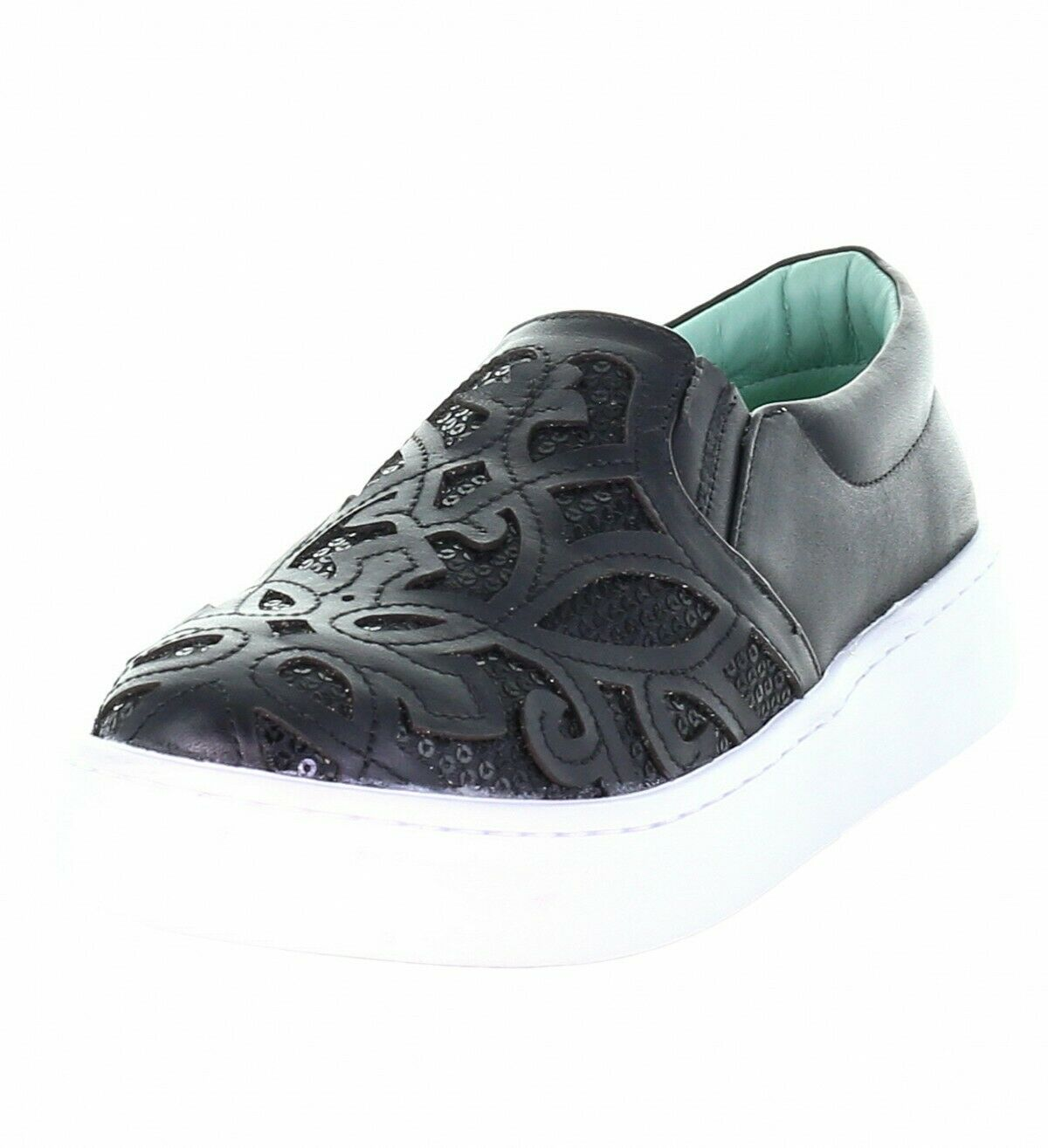 Womens Corral Sneaker Blac Inlay & Embroidery E1565
