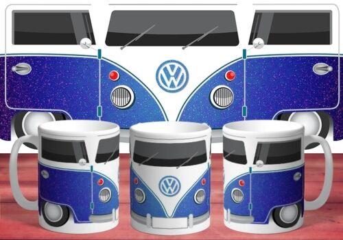 VW Personalised Mug VW Campervan  ADD NAME #BLUE