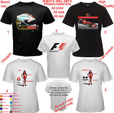 F1 Ferrari Sebastian Vettel Kimi Raikkonen Shirt All Size S,M,L~5XL,Kids,Babies