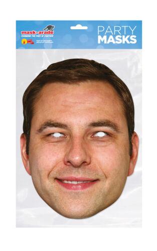 David Walliams Face Party Mask Card A4 Fancy Dress TV Comedian Ladies Men Kids