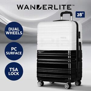 "Wanderlite Luggage Sets Suitcase 28"" TSA Travel Hard Case Lightweight PC Black"