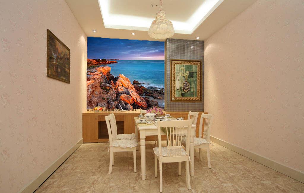 3D Zwielicht Strand 75 Tapete Tapete Tapete Wandgemälde Tapete Tapeten Bild Familie DE Summer | Moderne und stilvolle Mode  | Online einkaufen  |  67b20e