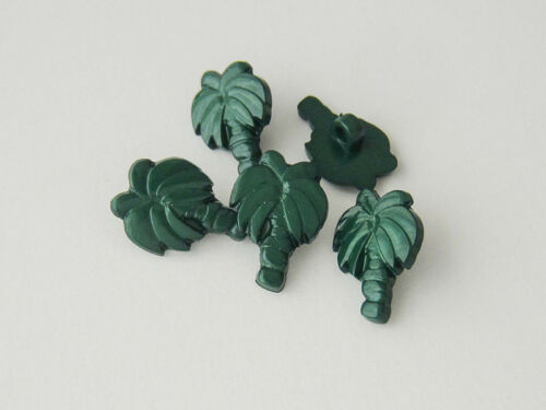 5 witzige grüne Ösen Kunststoffknöpfe wie eine echte Palme 5185pa-14x21