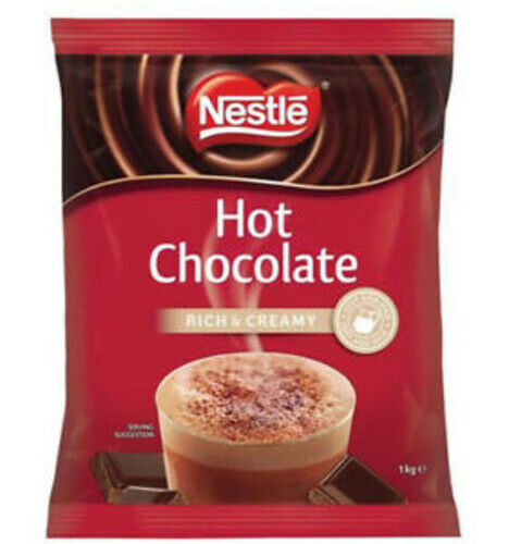 NESTLE HOT CHOCOLATE RICH AND CREAMY 1KG - EXCELLENT FOR WINTER! (FREE POST)