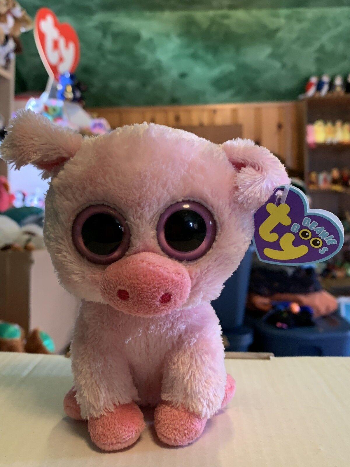 Ty CORKY -Pink Soft Soft Soft Plush Pig 6  Beanie Boo  Retired RARE & VHTF   4a2e7b