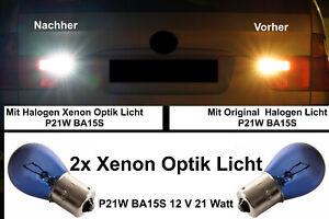 2x Backing Lights P21W BA15S Lamp Bulb Xenon Look White Fits E90 Soda