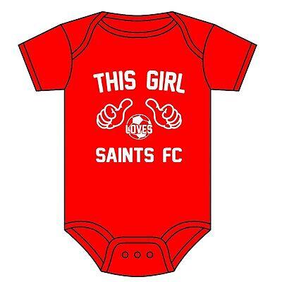Funny Southampton FC Football Baby Grow Funny Saints Babies Clothing