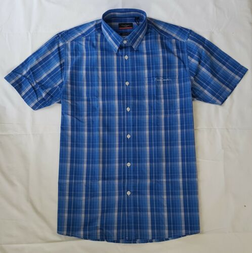 MENS PIERRE CARDIN SHORT SLEEVED CHECKED SHIRT FOR SALE-RRP £19.99-SALE 10/% OFF