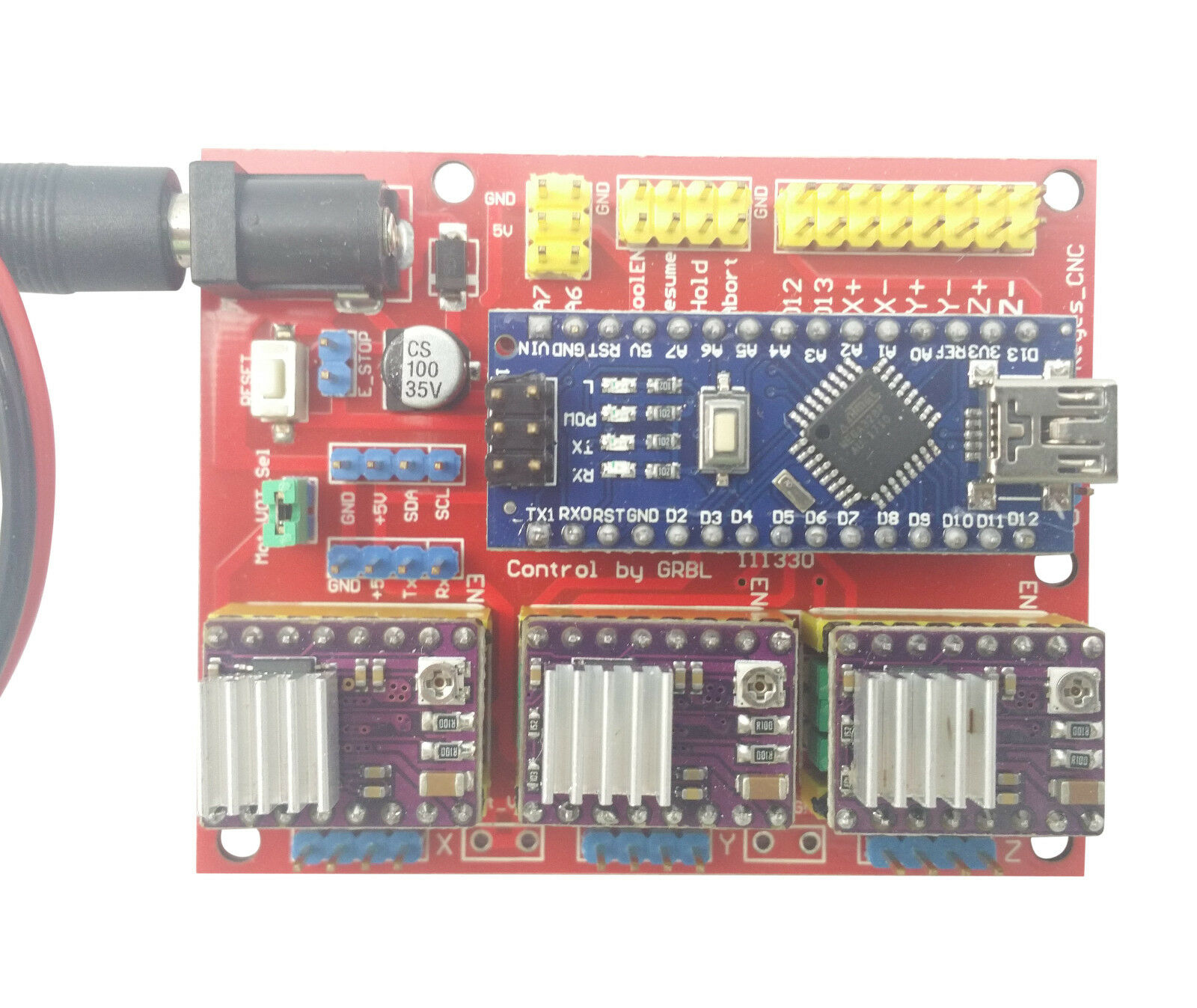 Details about Arduino Nano CNC Shield 3-Axis DRV8825 Stepper Driver Board  Complete Package Kit