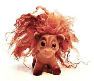 DAM Things Troll Horse Pony Animal EST 1964 All Original Curly Rust Mane Tail