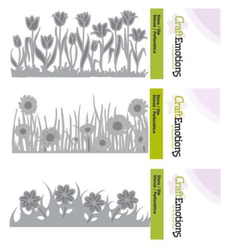 Stanzschablone flores-Prado flores skyline hierba craftemotions