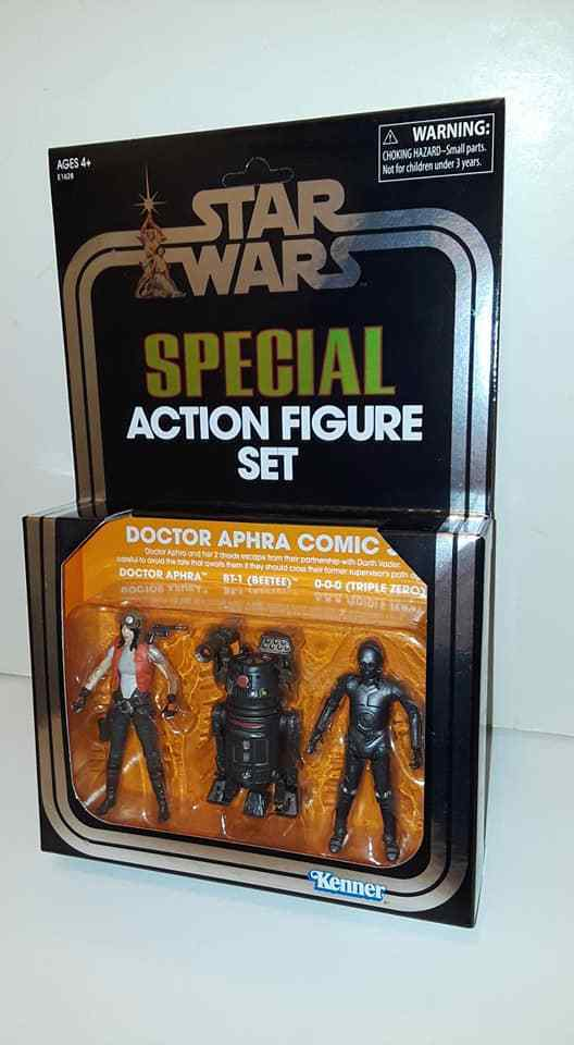 2018 SDCC EXCLUSIVE STAR WARS VINTAGE DOCTOR APHRA 3 FIGURE COMIC SET 3.75