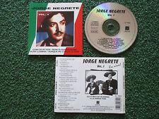 JORGE NEGRETE **Vol. 1: En Vivo** ORIGINAL 1992 Spain CD PEDRO INFANTE