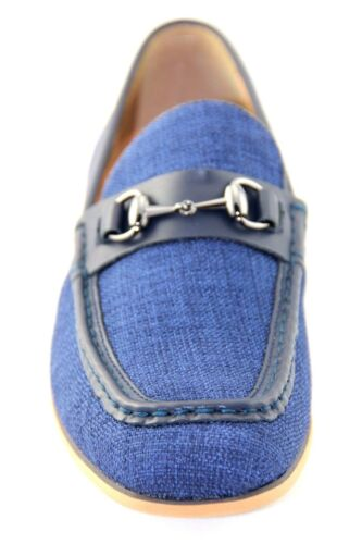 La Milano Men/'s Navy Blue Leather /& Fabric Casual Shoes Style#A1870