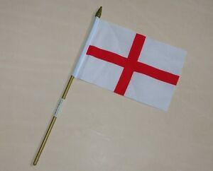 St George England Small Table Flag 6x4 Hand Waving New Free Postage uk