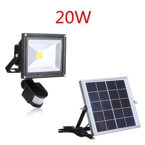 Solarleuchte LED Solar Lampe mit Bewegungsmelder Außen Fluter Sensor Strahler