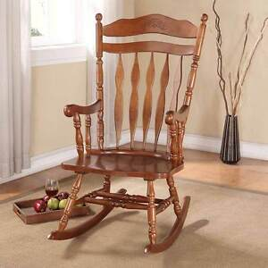 collection transitional living room rocking chair wood in dark walnut