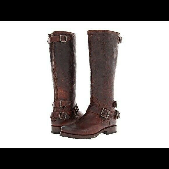 FRYE Women/'s Melissa Stud Back Zip Riding Boot