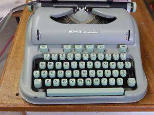 Hermes 3000 Portable Typewriter Case Brush Manual, Tabulator, 1959