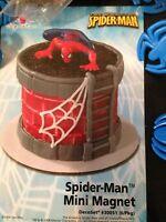 Decopac Spider Man Magnet Cake Topper & 12 Spider Picks B-day Decorating Kit