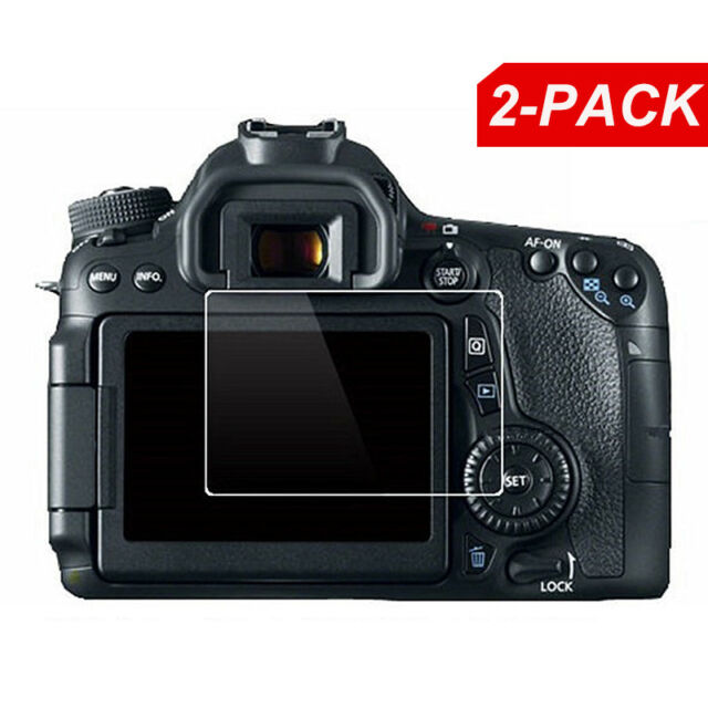 2x protector de pantalla LCD de vidrio para Canon EOS M3 M10 M5 M6 77D 80D 1300D 200D T6i