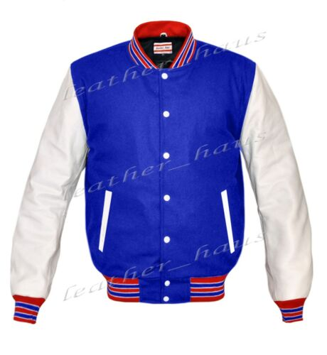 Women Letterman in pelle vera Varsity le di Wool Wsl Giacca College wb rw 0Iqd0