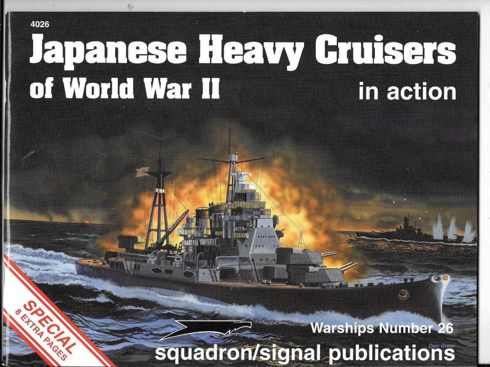 Squadron JAPANESE HEAVY CRUISERS OF WORLD WAR II IN ACTION NM - 4026