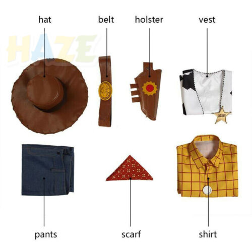 Toy Story 4 Woody Cowboy Jessie Cosplay Costume Adult Size Halloween Outfit
