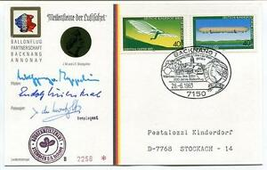 1983 Ballonpost Pro Juventute Aerostato 1 Start Mongolfiere Pestalozzi Backnang PréVenir Le Grisonnement Des Cheveux Et Aider à Conserver Le Teint