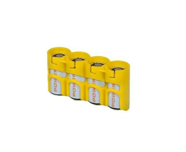 Holds 8 Batteries Storacell by Powerpax AA Battery Caddy Orange