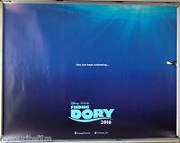 Cinema Poster: FINDING DORY 2016 (Advance Quad) Ellen DeGeneres Idris Elba