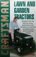 Sears Craftsman Lawn Garden Tractor 1998 Color Sales Brochure 10pg Riding Mower