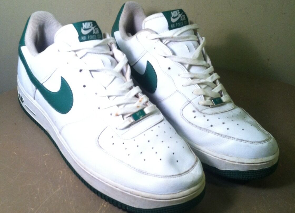 Nike Air Force '06 XXV WHITE GREEN AF1-'82 Mens 13 Sneakers 315092-131