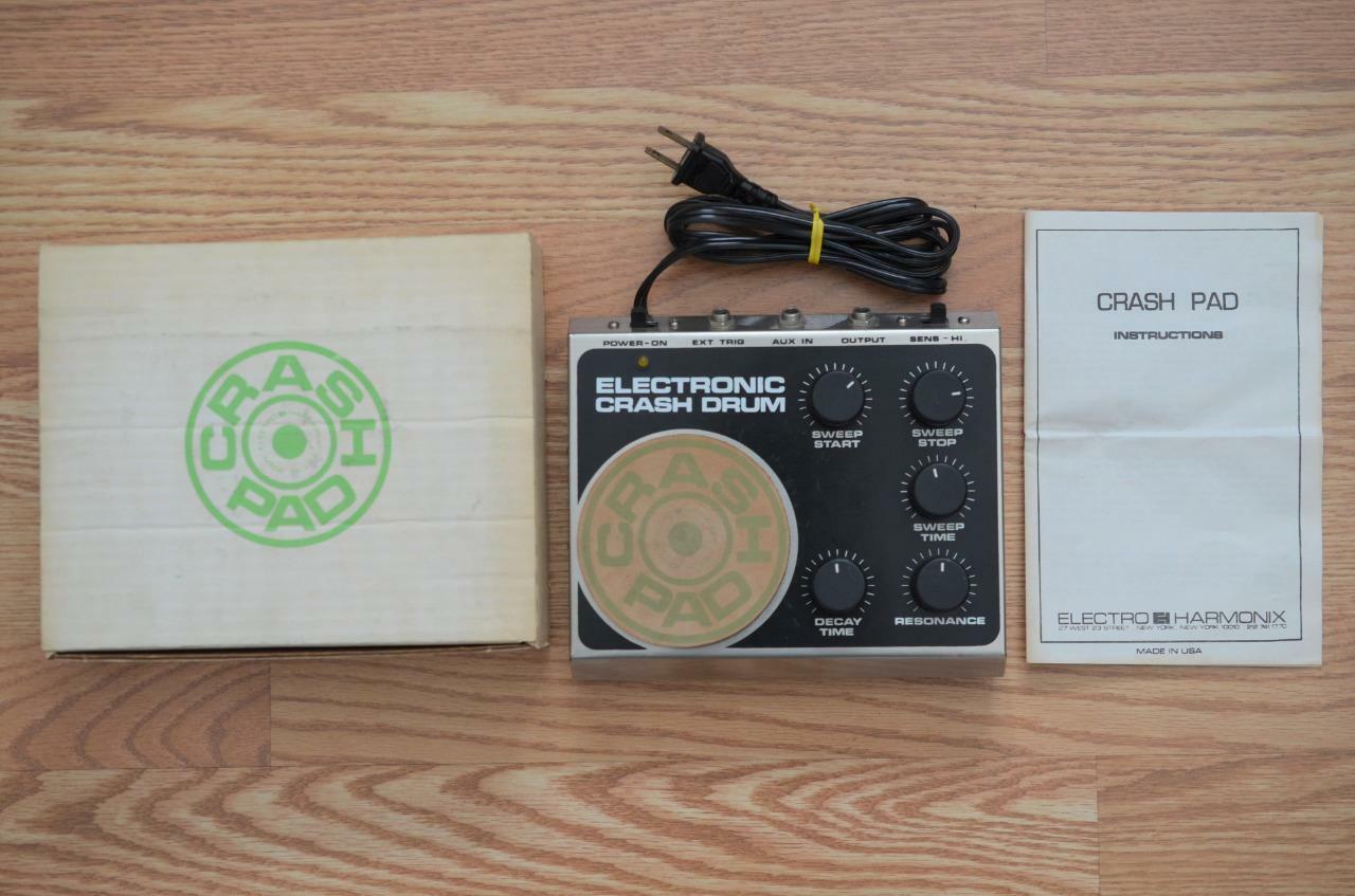 Electro Harmonix Crash Pad Vintage Electronic Drum Effects Pedal w  Box & Manual